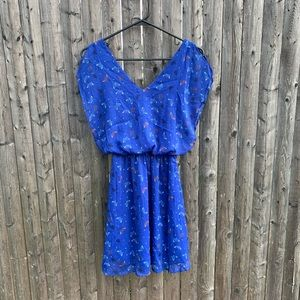 Candie's Blue Butterfly Dress xs